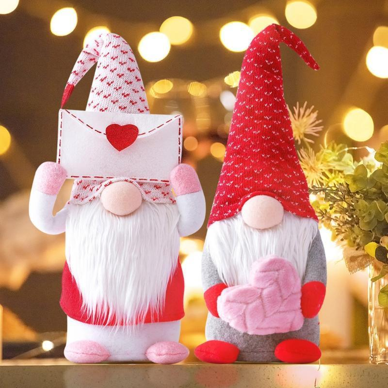 Handcrafted Plush Gnome Dolls Family For Valentine's Day Confession Gift
