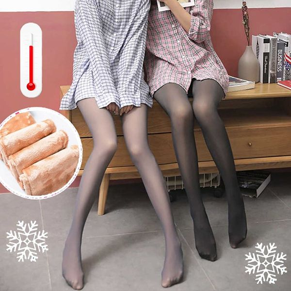 (New Year Sale - 50% Off) Flawless Legs Fake Translucent Warm Fleece Pantyhose