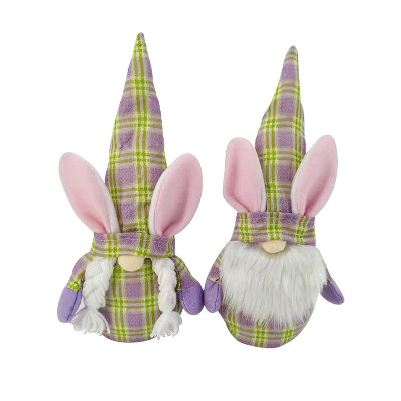 1PCS Easter Bunny Gnomes Spring Gifts Room Plush Faceless Doll Decorations Present