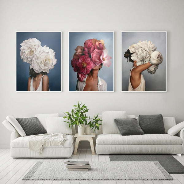 Bouquet Woman Canvas Prints-Canvas-Eden + Ash