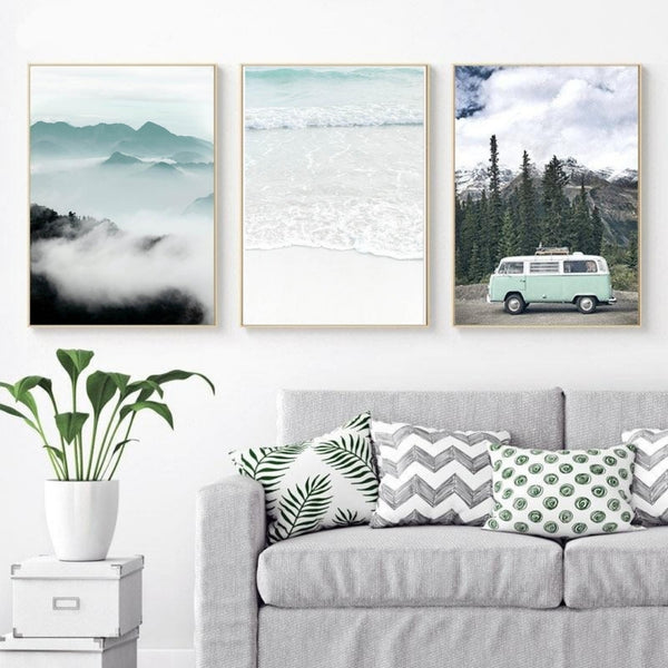 Seafoam Hues Canvas Prints-Canvas-Eden + Ash