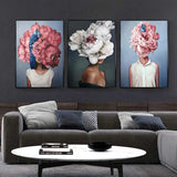 Mysterious Woman Canvas Prints-Canvas-Eden + Ash