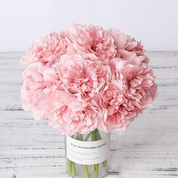 Silk Bush Peony Bouquet-Artificial Flowers-Eden + Ash