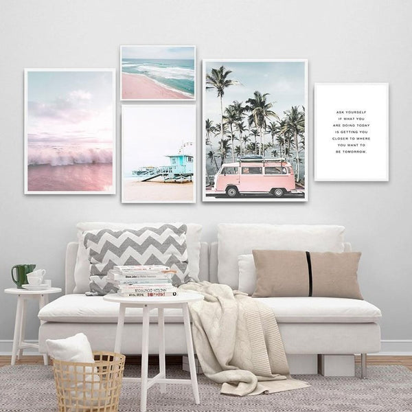 Pink Ocean Hues Canvas Prints-Canvas-Eden + Ash