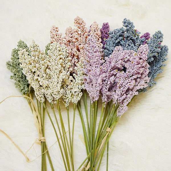 Artificial Dried Millet Bunch-Artificial Flowers-Eden + Ash