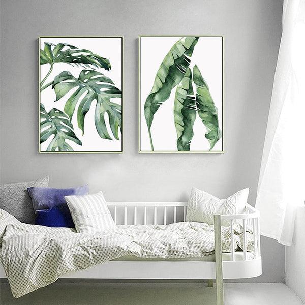 Palm Leaf Canvas Prints-Canvas-Eden + Ash