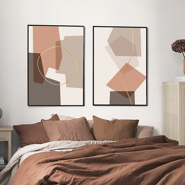 Neutral Abstract Canvas Prints-Canvas-Eden + Ash