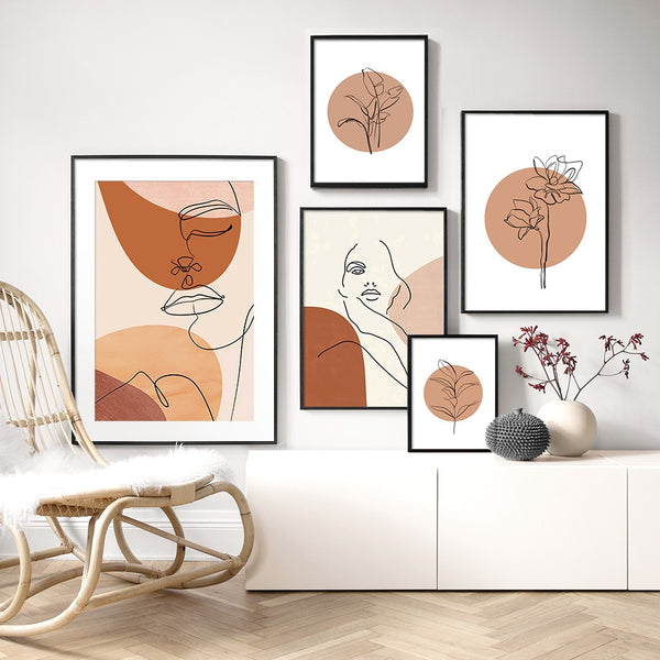 Terracotta Abstract Canvas Prints-Canvas-Eden + Ash