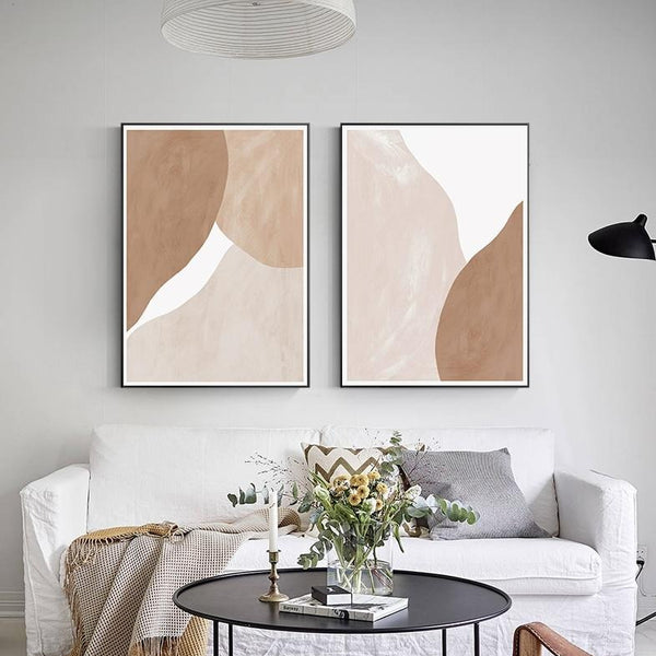 Abstract Caramel Blend Canvas Prints-Canvas-Eden + Ash