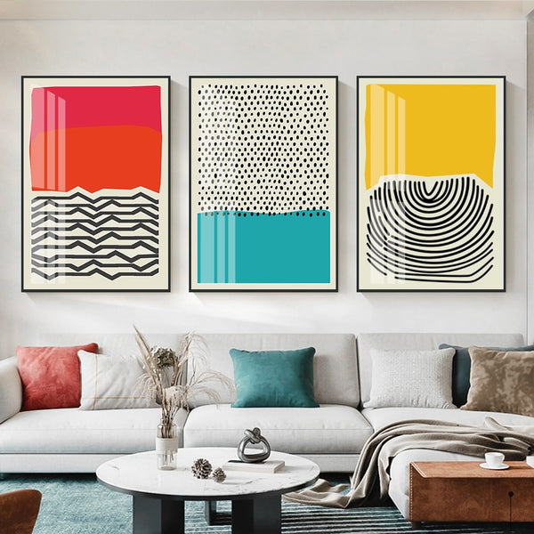 Abstract RYB Canvas Prints - EDEN + ASH