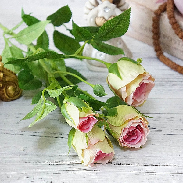 Silk Pink Roses-Artificial Flowers-Eden + Ash