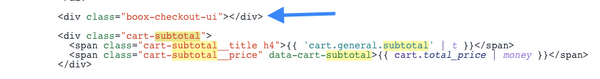 code with an arrow pointing to a line of code