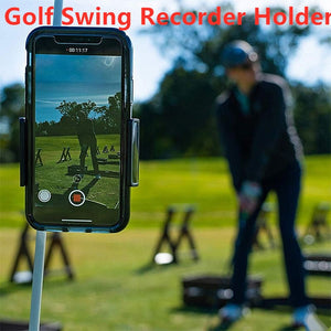 Golf Swing Phone Recorder Holder
