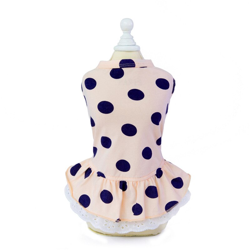 Summer Cotton Pet Dress for Small Dogs Sweet Bow Princess Cat Dog Dresses Chihuahua Maltese Skirt Puppy Clothing Pets Clothes
