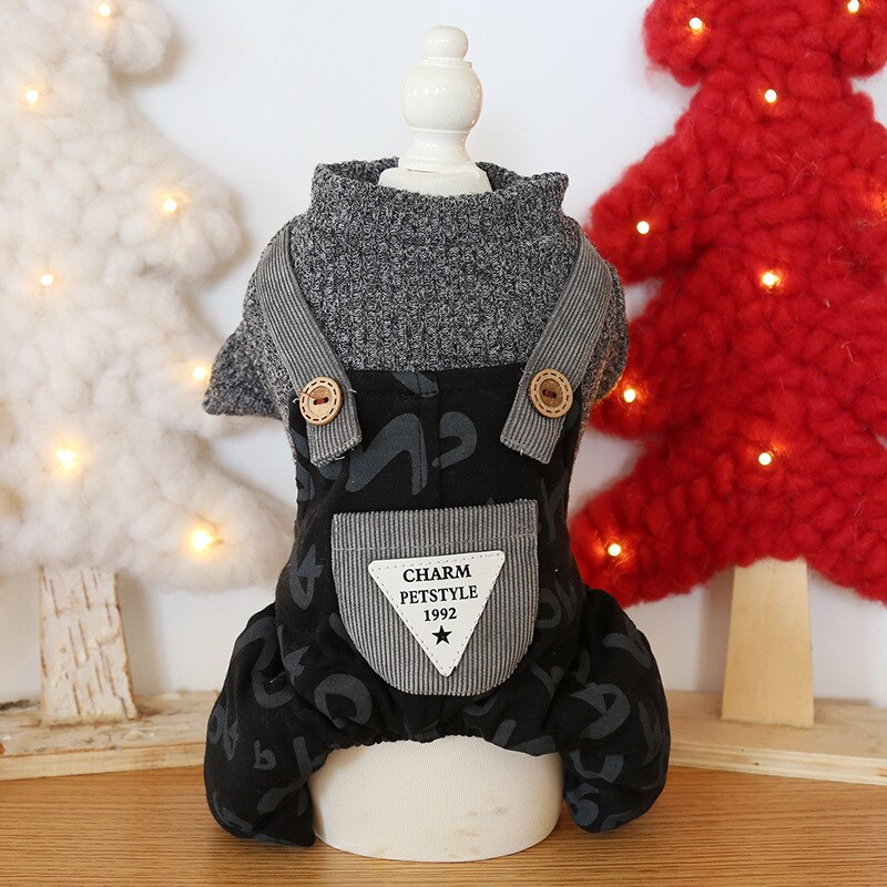 Wool Letters Pattern Four-legged Dog Pet Clothes