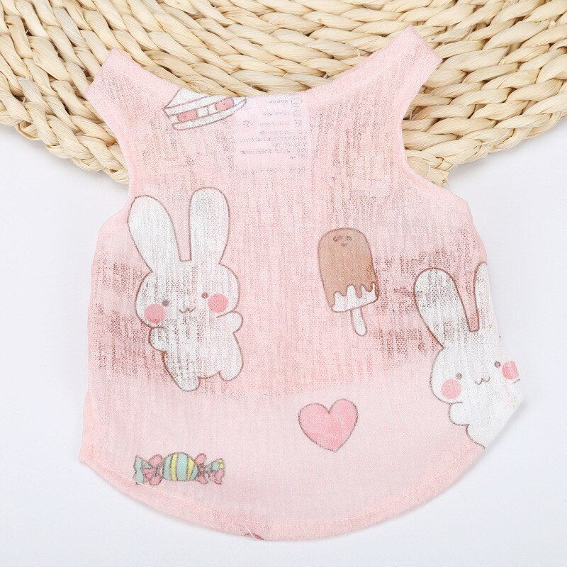 Super Cute Teacup Puppy Clothes Summer French Bulldog Clothes for Pugs Fashion Clothes for Cats Breathable Cool Small Dog Vests