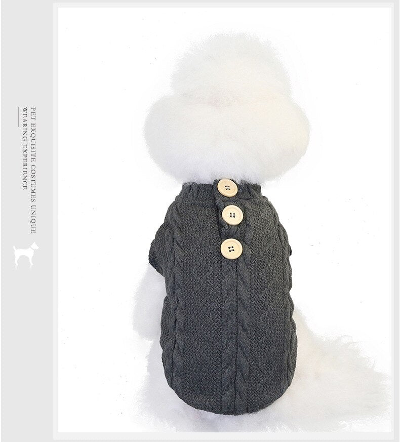 Dog Clothes Winter Jacket for Dogs Autumn and Winter Small Dog Bear Fleece-Lined Warm Design Wool Cotton Vest Cat Clothing