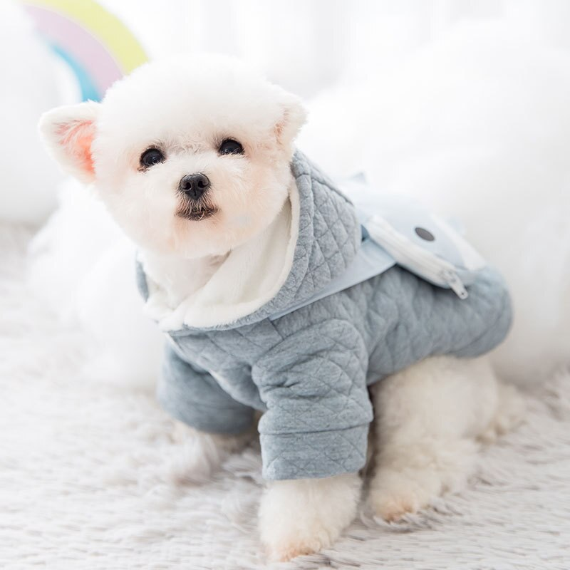 2020 Newest Autumn and Winter Dog Quilted Cotton Clothes for Small and Medium-sized Dogs Two-Legged Clothes with Backpack Coats