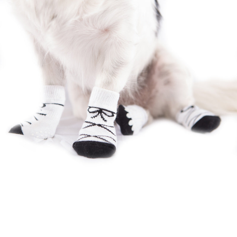 White Dog Socks