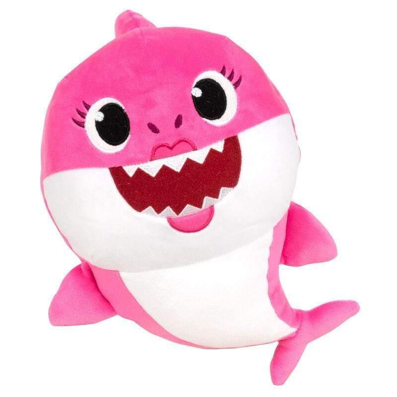 Infogeek BRANDS|BABY SHARK Baby Shark Mommy Shark soft plush toy with sound 26cm