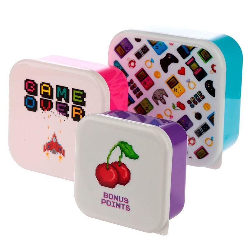 Infogeek BRANDS|GAME OVER Game Over set of 3 lunch boxes