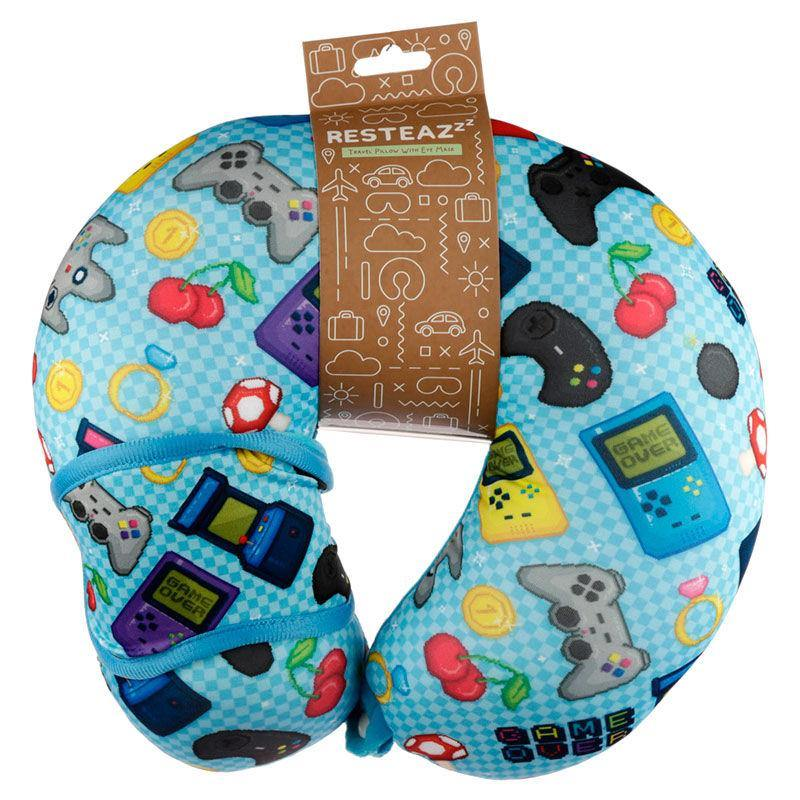 Infogeek BRANDS|GAME OVER Resteazzz Game Over travel pillow and eye mask set