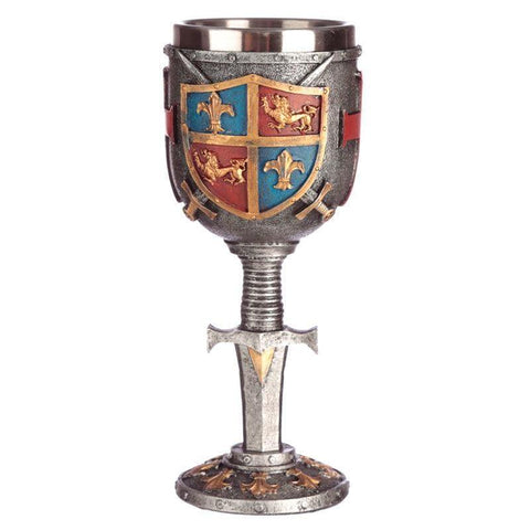 Infogeek BRANDS|GOTHIC / FANTASTIC Coat of Arms and Sword goblet