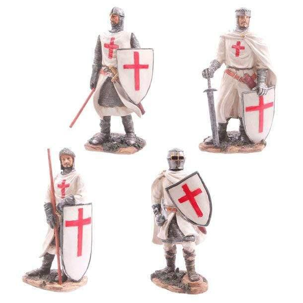 Infogeek BRANDS|GOTHIC / FANTASTIC Standing Crusader Knight Ready for Battle assorted figure