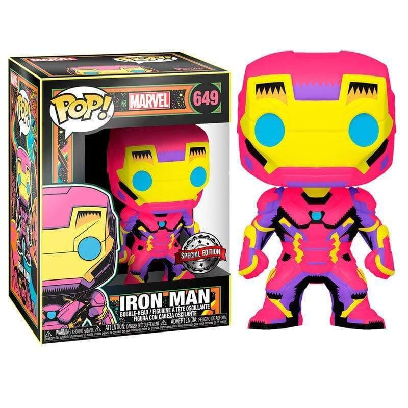 POP figure Marvel Black Light Iron Man - InfoGeek