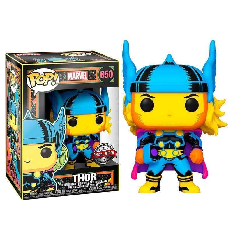 POP figure Marvel Black Light Thor - InfoGeek