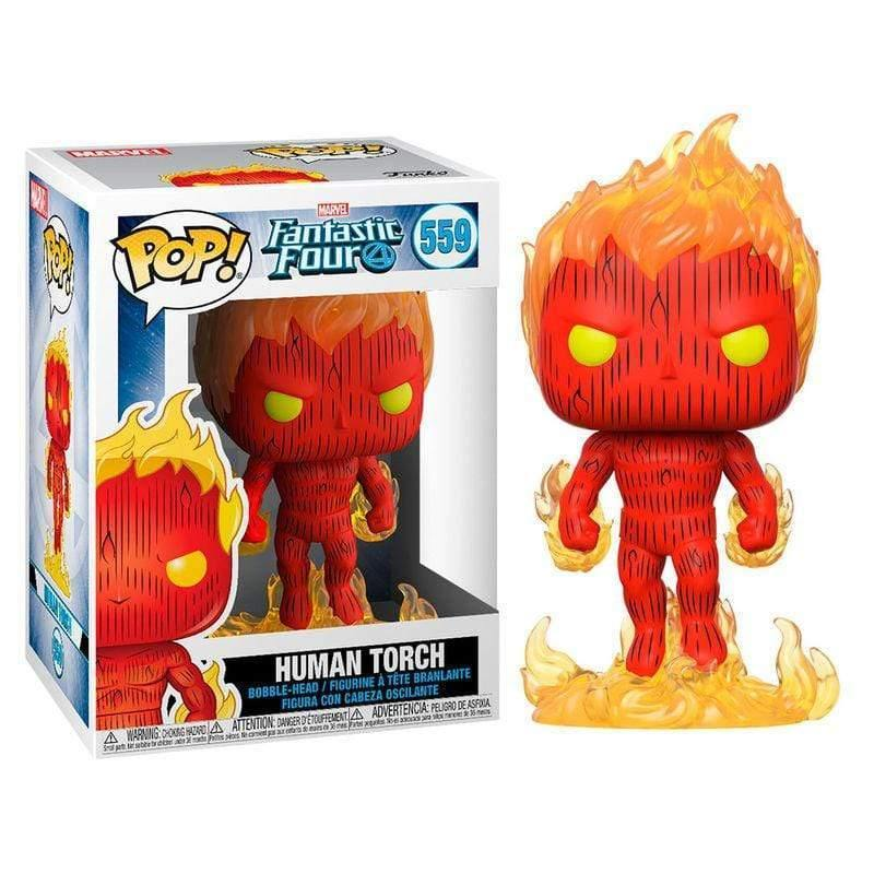 POP figure Marvel Fantastic Four Human Torch - InfoGeek