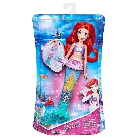 Infogeek GAMES & TOYS|HASBRO Disney Little Mermaid Ariel Glitter and Glow doll
