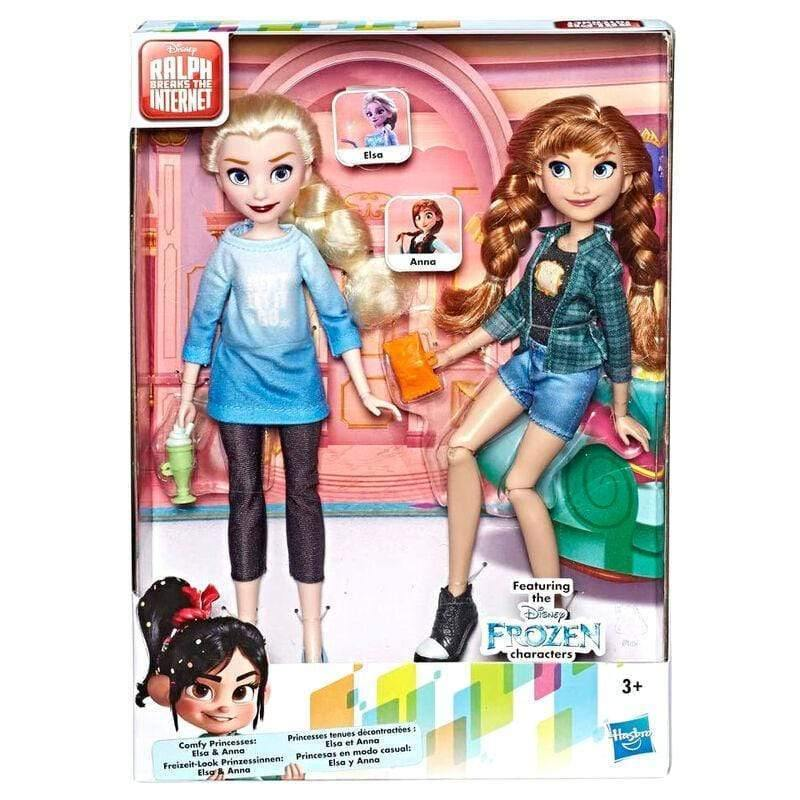 Infogeek GAMES & TOYS|HASBRO Disney Ralph Breaks the Internet Frozen Elsa and Anna dolls