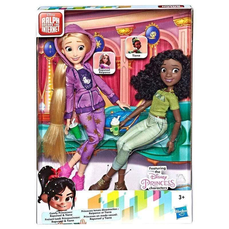 Infogeek GAMES & TOYS|HASBRO Disney Raph Breaks the Internet Rapunzel + Tiana set 2 dolls