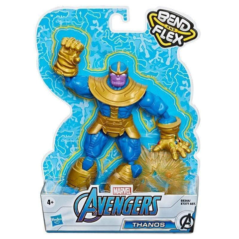 Infogeek GAMES & TOYS|HASBRO Marvel Avengers Thanos Bend and Flex figure 15cm
