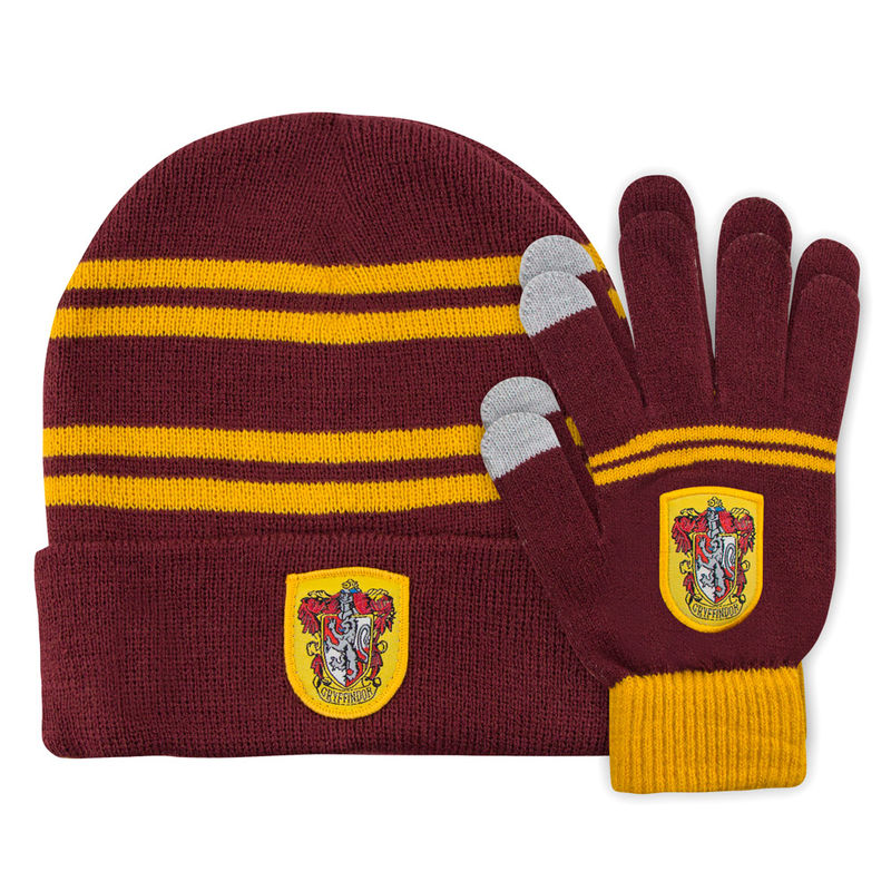Harry Potter Gryffindor set beani + gloves for kids