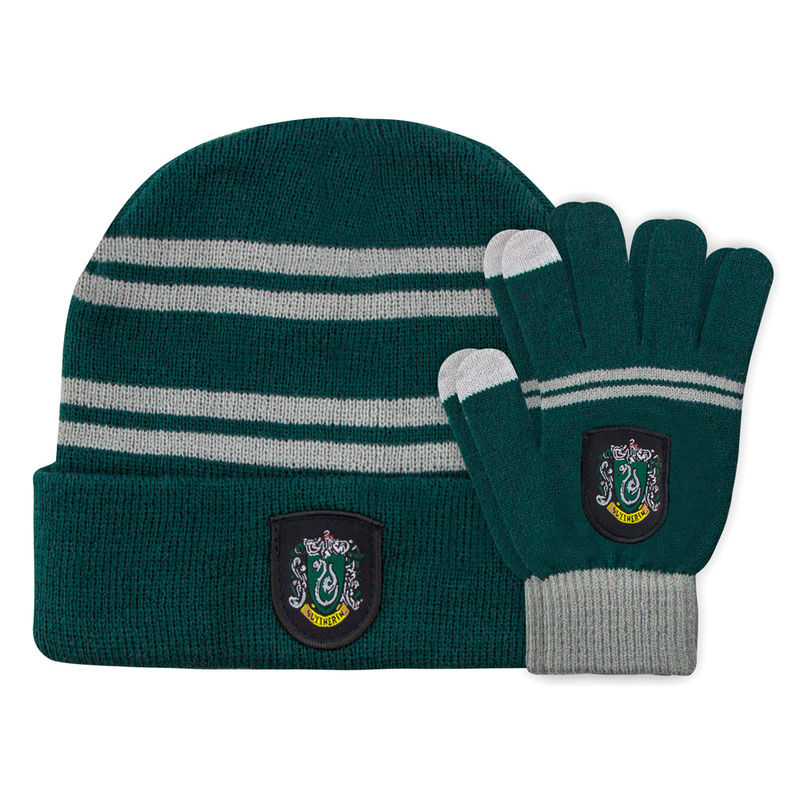 Harry Potter Slytherin set beani + gloves for kids