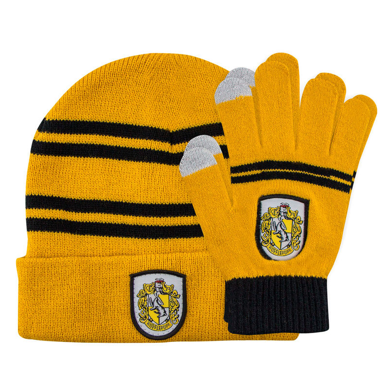 Harry Potter Hufflepuff set beani + gloves for kids