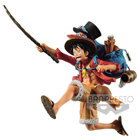 One Piece Three Brothers Portgas Monkey D. Luffy figure 11cm