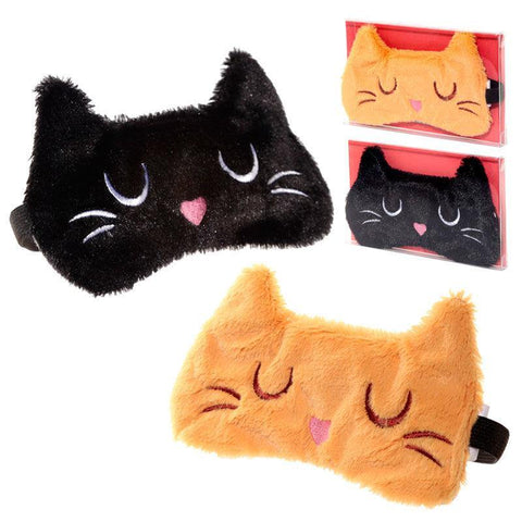 Feline Fine Cat assorted plush eye mask