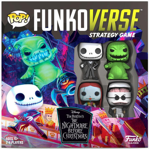 English POP Funkoverse board game Nightmare Before Christmas 4pcs