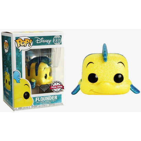 POP figure Disney The Little Mermaid Flounder Glitter Exclusive