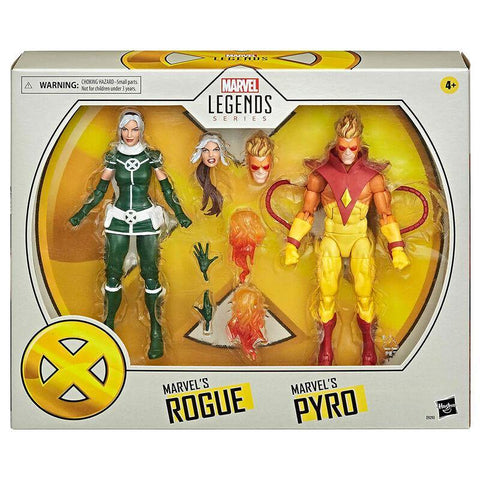 Marvel Legends Pyro and Rogue set 2 figures 15cm