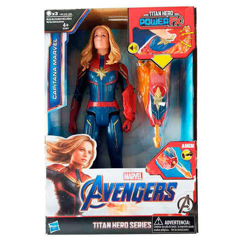 Spanish Marvel Avengers Captain Marvel Titan Hero Power figure 30cm