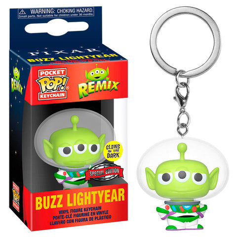 Pocket POP keychain Disney Pixar Alien Remix Buzz Glow Exclusive