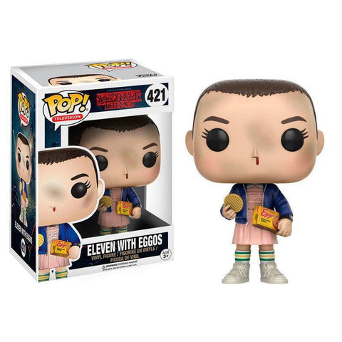POP figure Stranger Things Eleven with Eggos