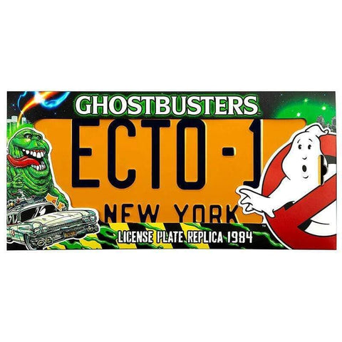 Ghostbusters ECTO 1 number plate replica - InfoGeek