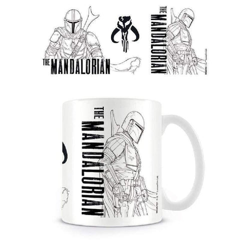 Star Wars The Mandalorian Line Art mug - InfoGeek