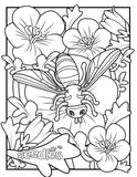 Bee Coloring Book Page #2