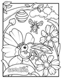 Bee Coloring Book Page #3